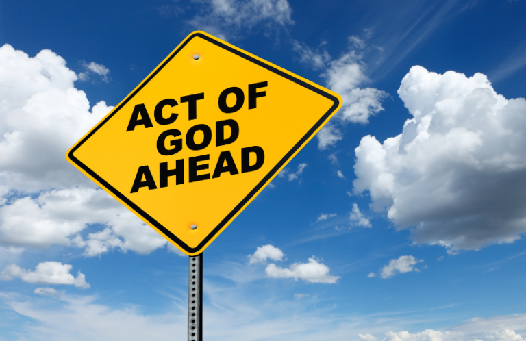 Act of God sign