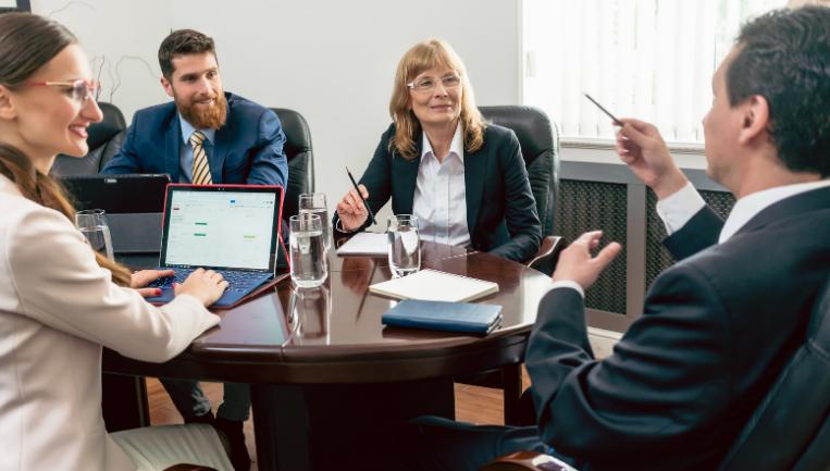 Board of directors at a meeting