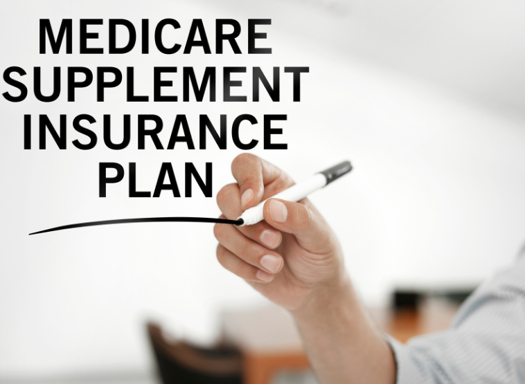 Displays the words Medicare Supplement Insurance Plan