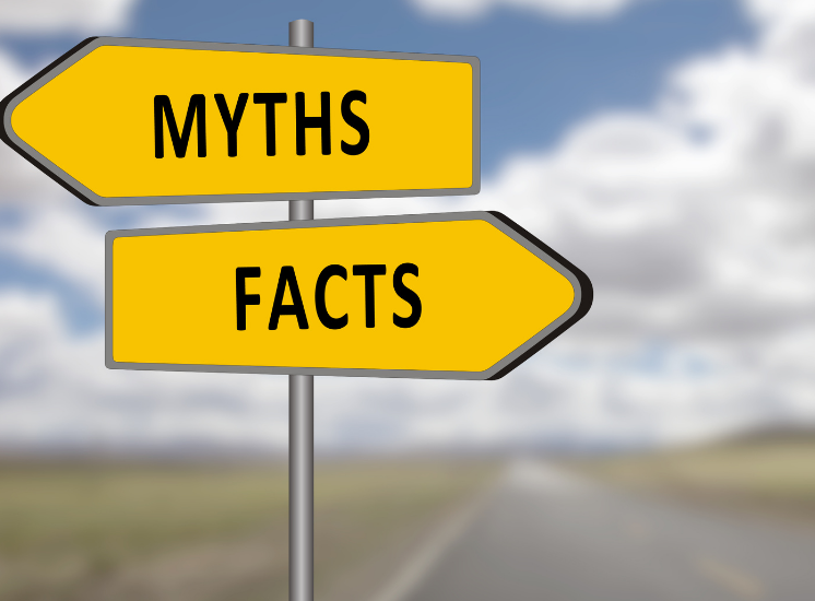 Signs saying Myths and Facts